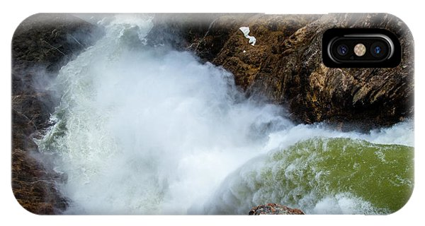 The Brink Of The Lower Falls Of The Yellowstone River IPhone Case