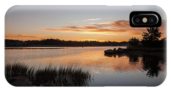 IPhone Case featuring the photograph The Brink - Pawcatuck River Sunrise by Kirkodd Photography Of New England