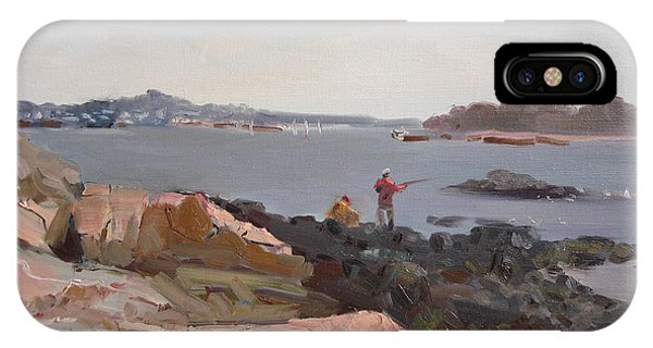 Rocky iPhone Case - The Bronx Rocky Shore by Ylli Haruni