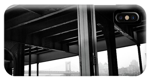 The Brooklyng Bridge And Manhattan Bridge From Fdr Drive IPhone Case