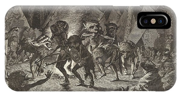 Dance iPhone Case - The Buffalo Dance by Frederic Remington