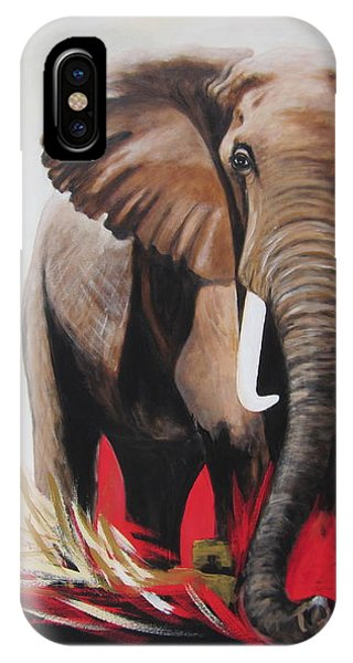 Win Win - The  Bull Elephant  IPhone Case