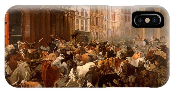 The Bulls And Bears In The Market IPhone Case
