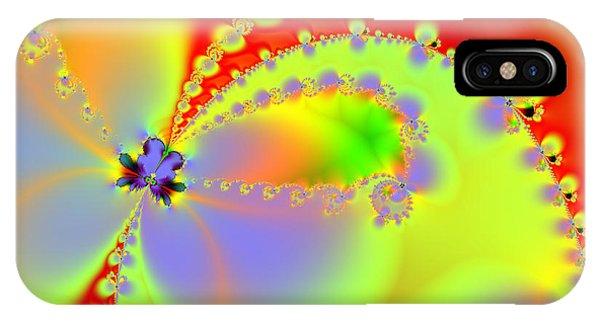 Julia Fractal iPhone X Case - The Butterfly Effect . Summer by Wingsdomain Art and Photography