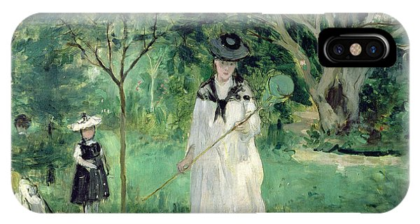 Greenery iPhone Case - The Butterfly Hunt by Berthe Morisot