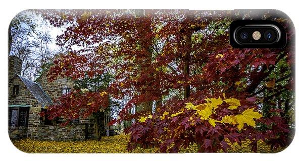 The Cabin In Autumn IPhone Case