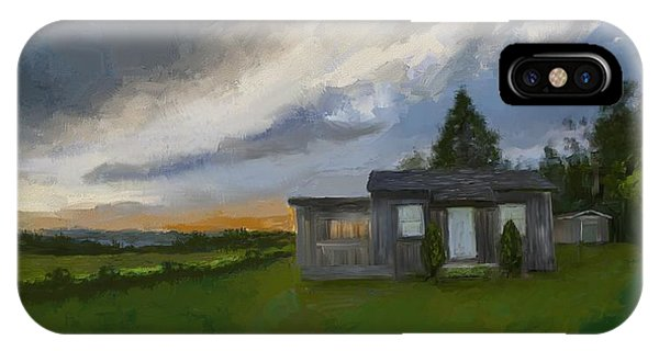 The Cabin On The Hill IPhone Case