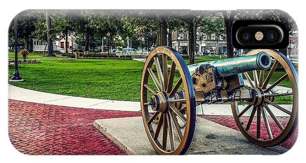 IPhone Case featuring the photograph The Cannon In The Park by Kendall McKernon