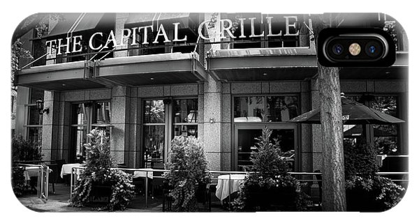 The Capital Grille In Black And White IPhone Case