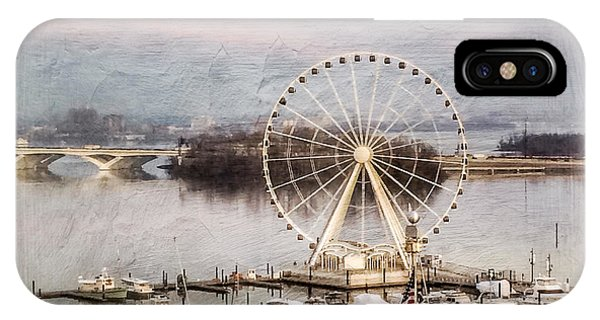 The Capital Wheel At National Harbor IPhone Case