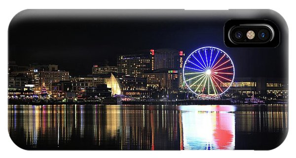 The Capital Wheel Over The Potomac IPhone Case