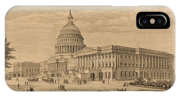 Capitol iPhone Case - The Capitol At Washington by 19th Century
