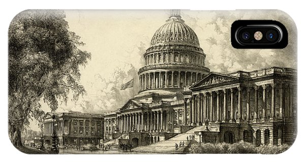 Capitol iPhone Case - The Capitol, Washington by 19th Century