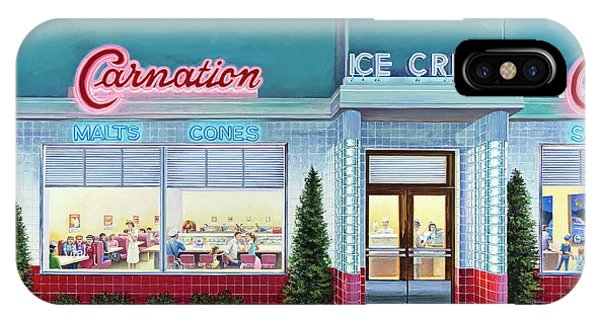 The Carnation Ice Cream Shop IPhone Case