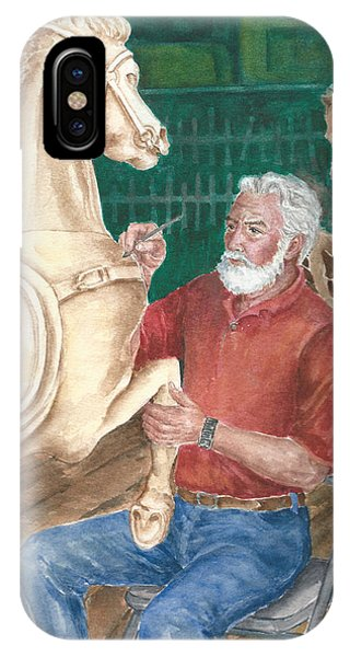 The Carver And His Horse IPhone Case