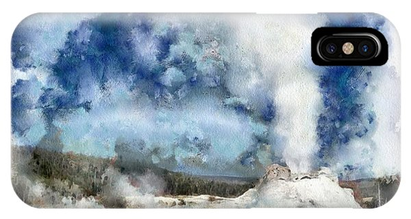The Castke Geyser In Yellowstone IPhone Case