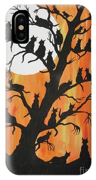 The Cats On Night Watch IPhone Case