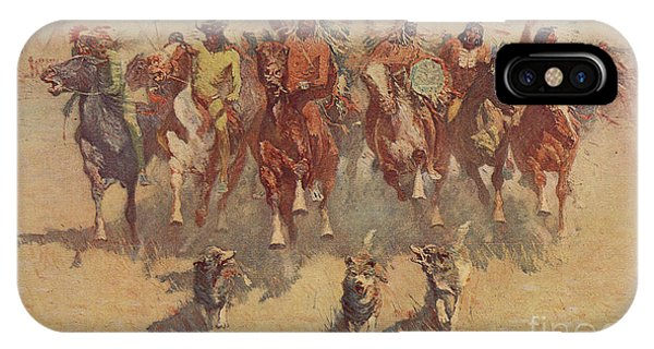 Ceremony iPhone Case - The Ceremony Of The Scalps by Frederic Remington