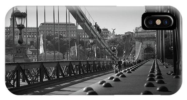 The Chain Bridge, Danube Budapest IPhone Case