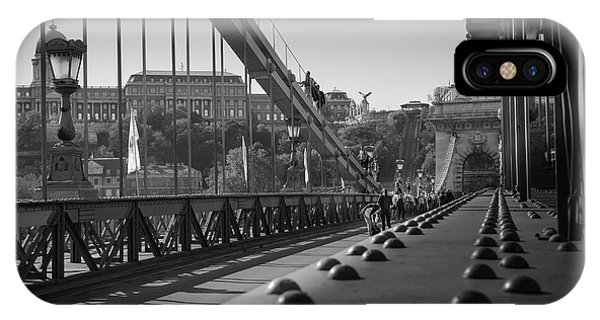 The Chain Bridge, Danube Budapest IPhone Case