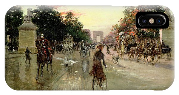 Avenue iPhone Case - The Champs Elysees - Paris by Georges Stein