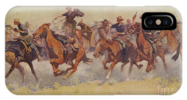 Cavalry iPhone Case - The Charge by Frederic Remington