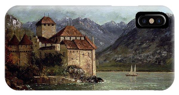 Mountainous iPhone Case - The Chateau De Chillon by Gustave Courbet