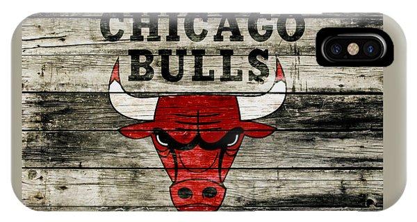 The Chicago Bulls Wood Art IPhone Case