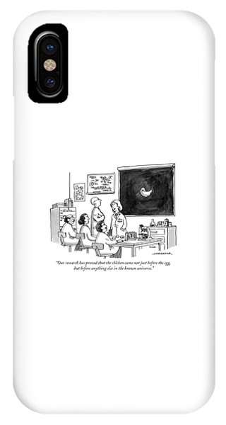 The Chicken Came Not Just Before The Egg IPhone Case