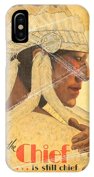 The Chief Train - Vintage Poster Folded IPhone Case
