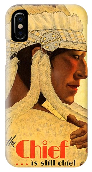 The Chief Train - Vintage Poster Restored IPhone Case