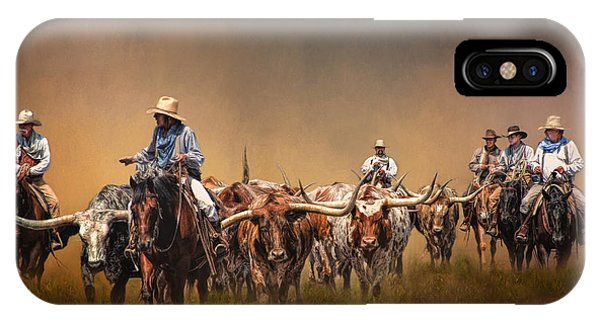 Texas iPhone Case - The Chisolm Trail by David and Carol Kelly