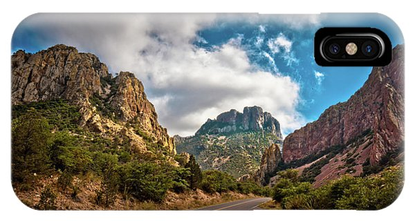 Middle Of Nowhere iPhone Case - The Chisos Mountains by Linda Unger