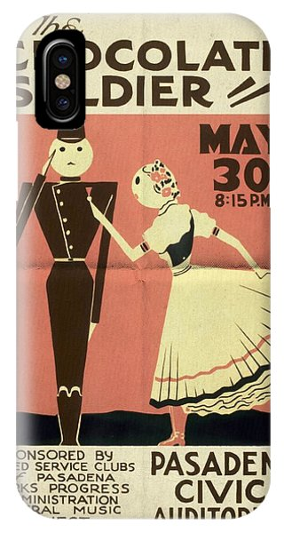 The Chocolate Soldier - Vintage Poster Folded IPhone Case