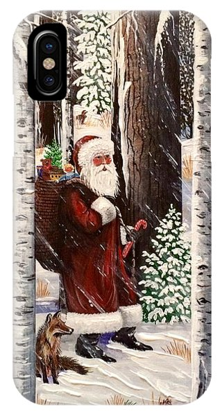 The Christmas Forest Visitor 2 IPhone Case