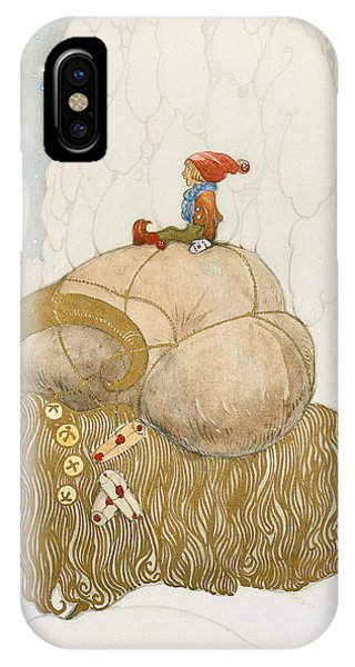 Swedish Painters iPhone Case - The Christmas Goat  by John Bauer