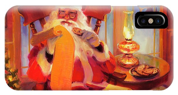 Santa Claus iPhone Case - The Christmas List by Steve Henderson