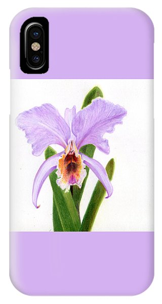 The Christmas Orchid IPhone Case