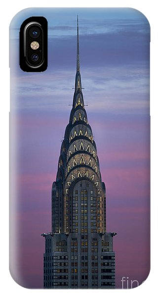 Architecture iPhone Case - The Chrysler Building At Dusk by Diane Diederich