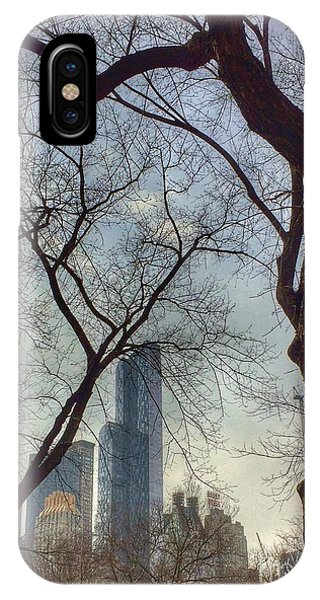 The City Through The Trees IPhone Case
