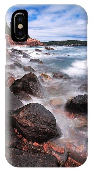 Nubble Light iPhone X Case - The Cliff   by Emmanuel Panagiotakis
