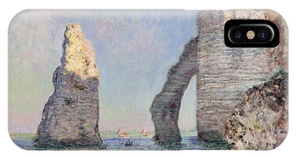 Impressionism iPhone X Case - The Cliffs At Etretat by Claude Monet