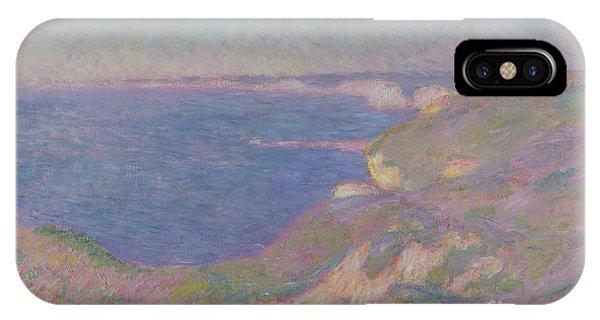 Normandy iPhone Case - The Cliffs Near Dieppe by Claude Monet