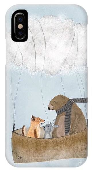 Hot Air Balloons iPhone Case - The Cloud Balloon by Bri Buckley