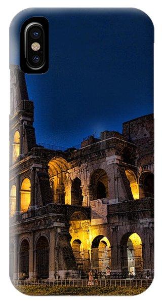 The Coleseum In Rome At Night IPhone Case