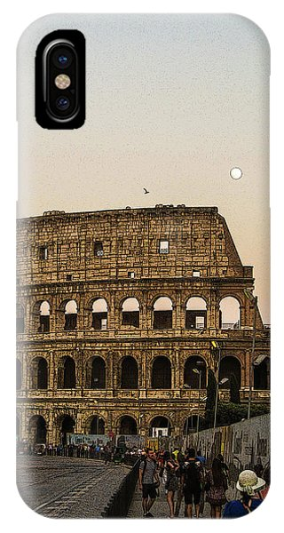 The Coliseum And The Full Moon IPhone Case