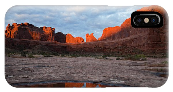The Color Of Sunrise In Arches IPhone Case