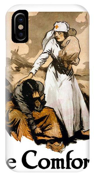 Cross iPhone Case - The Comforter - World War One Nurse by War Is Hell Store
