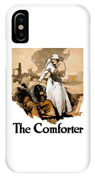 Cross iPhone X Case - The Comforter - World War One Nurse by War Is Hell Store
