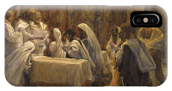 Life Of Christ iPhone Case - The Communion Of The Apostles by Tissot